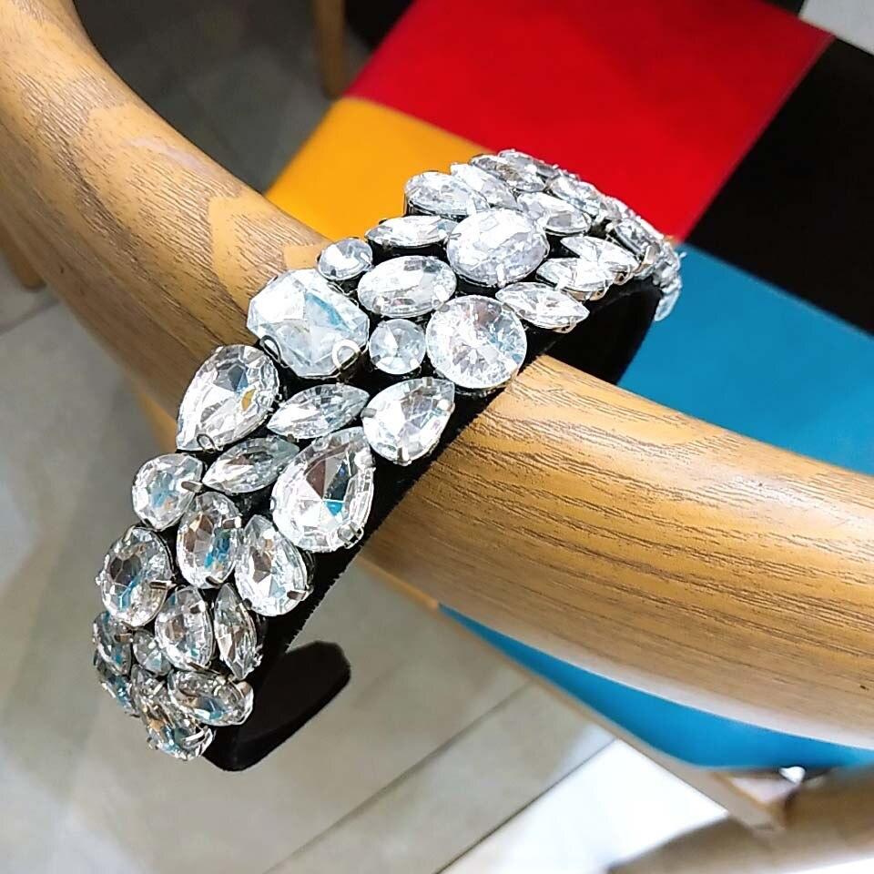 Super Flash diamante barroca diademas para mujer diadema accesorios para el cabello de Corea banda para el cabello flor diademas de corona cabeza envoltura