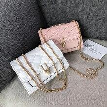 Mode nouvelle ligne de couture rhombique simple épaule en bandoulière petit sac femelle 2019 serrure boucle sauvage épaule diagonale paquet dame sac
