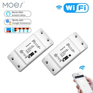 2 Pieces DIY WiFi Smart Light Switch Universal Breaker Timer Wireless Remote Control Works with Alexa Google Home Smart Home