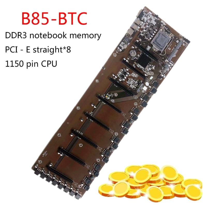 2021 New B85 BTC Mainboard Mining  Motherboard CPU Set 8 Graphics Card Slot DDR3 Memory Tntegrated VGA Interface