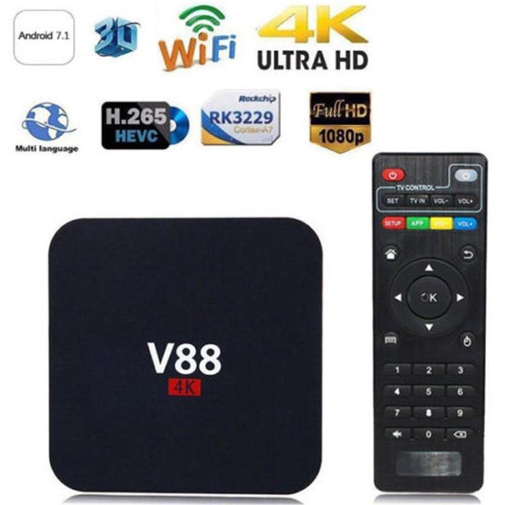 V88 Rk3229 Smart Tv компьютерной приставки к телевизору плеер 4k Quad-core 8 Гб Wi-Fi медиа-проигрыватель ТВ коробка умный Hdtv коробка относится к андроид про...