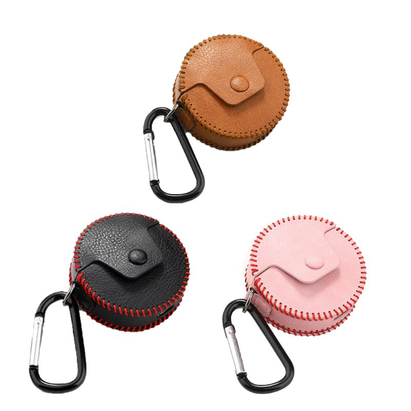 Mini Portable Leather Storage Bag Protective Zipper Carrying Case Box for Huawei Freebuds 3 Earphones