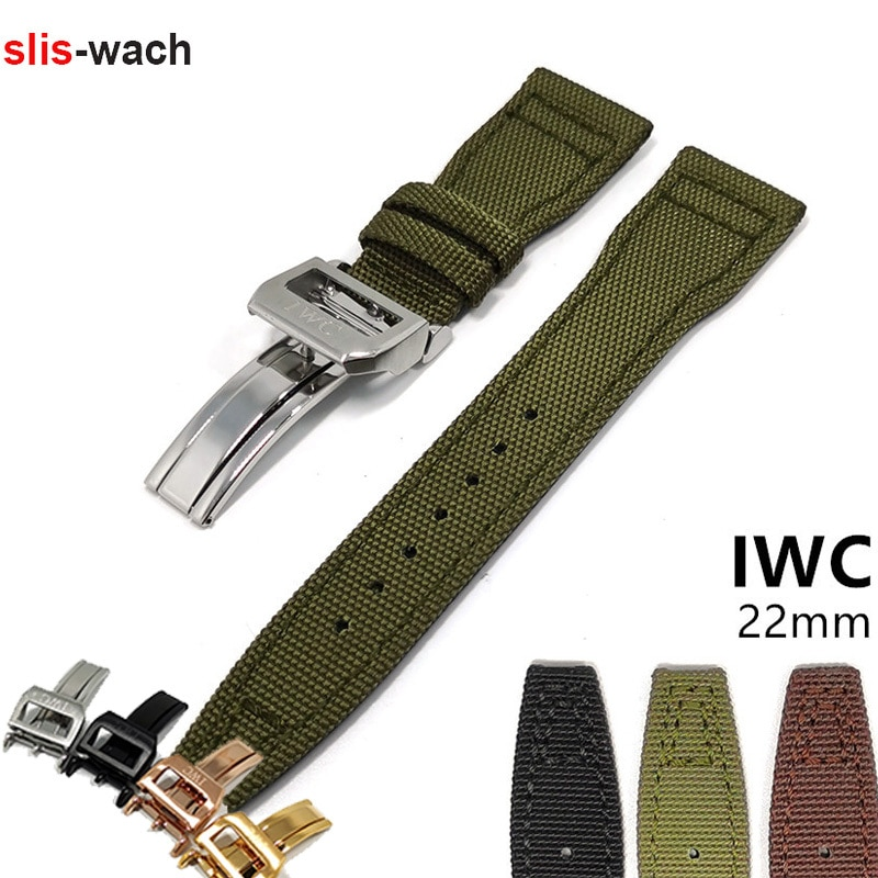 Watch Accessories Band FOR IWC Watch Pilot Series Watch Bracelet Nylon Fabric Wristwatch Belt IWC Wa