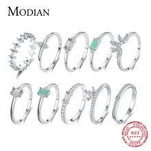MODIAN แฟชั่น100% 925เงินสเตอร์ลิงทัวร์มาลีนแหวนคลาสสิก CZ เครื่องประดับสำหรับผู้หญิงหมั้นของขวัญ ...