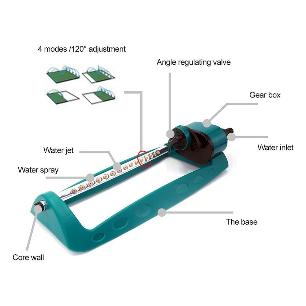 Купить с кэшбэком New Arrival Adjustable Swing Type Oscillating Sprinkler Automatic Watering Gardening Tool Garden Park Sprinklers