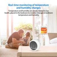Tuya     capteur de temperature et dhumidite  WIFI  pour maison intelligente  thermometre et hygrometre  affichage LCD en temps reel  pas besoin de passerelle  Alexa et Google
