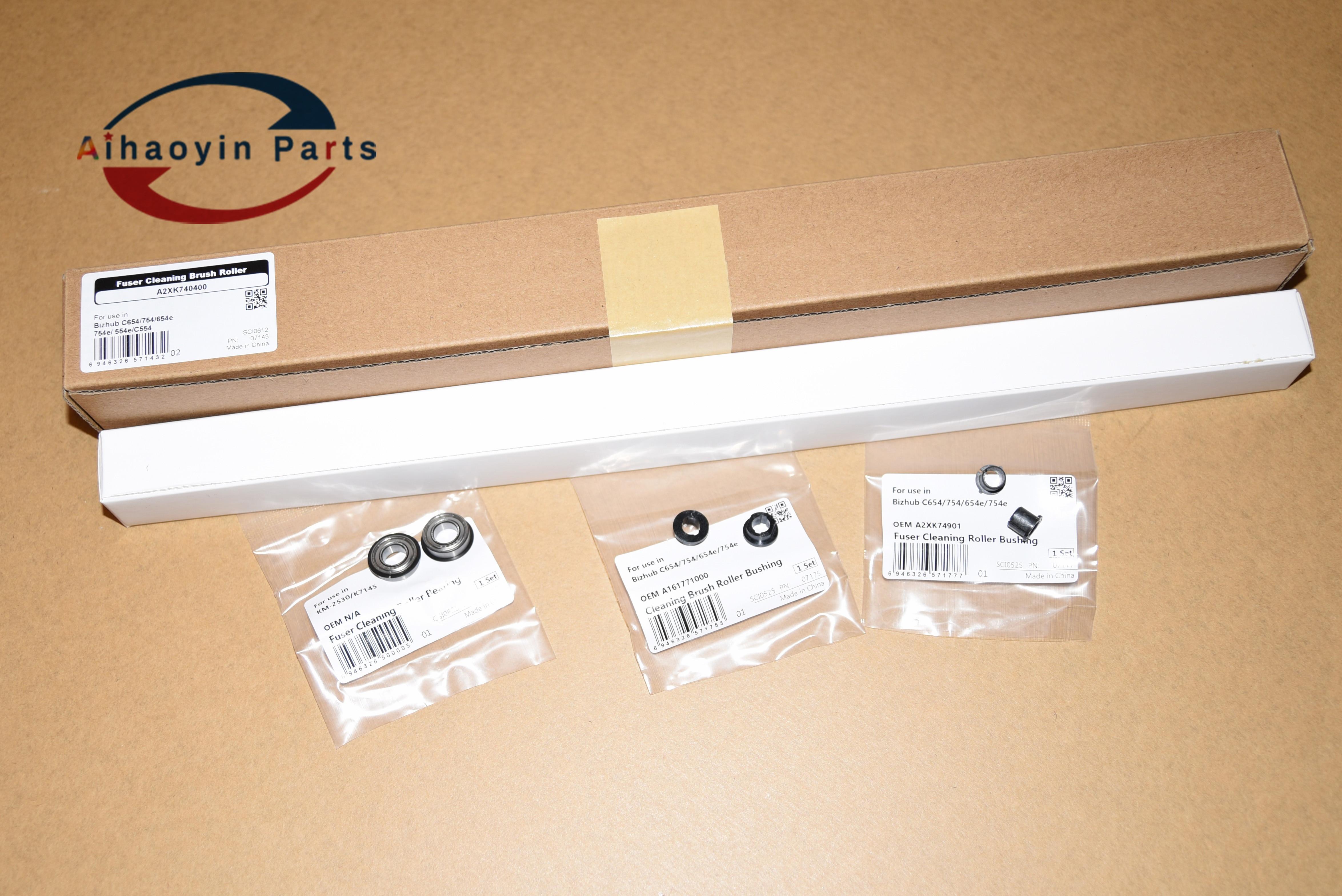 for konica minolta 554 654 754 654e 754e C554e C554 C654 C754 C654e C754e sub fuser kit cleanig brush roller bushing and bearing