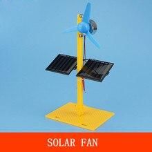Solar Power Generator DC Motor Mini Fan Panel DIY Science Education Model Kit Model Building Kits  Kids Children Baby gift 2020