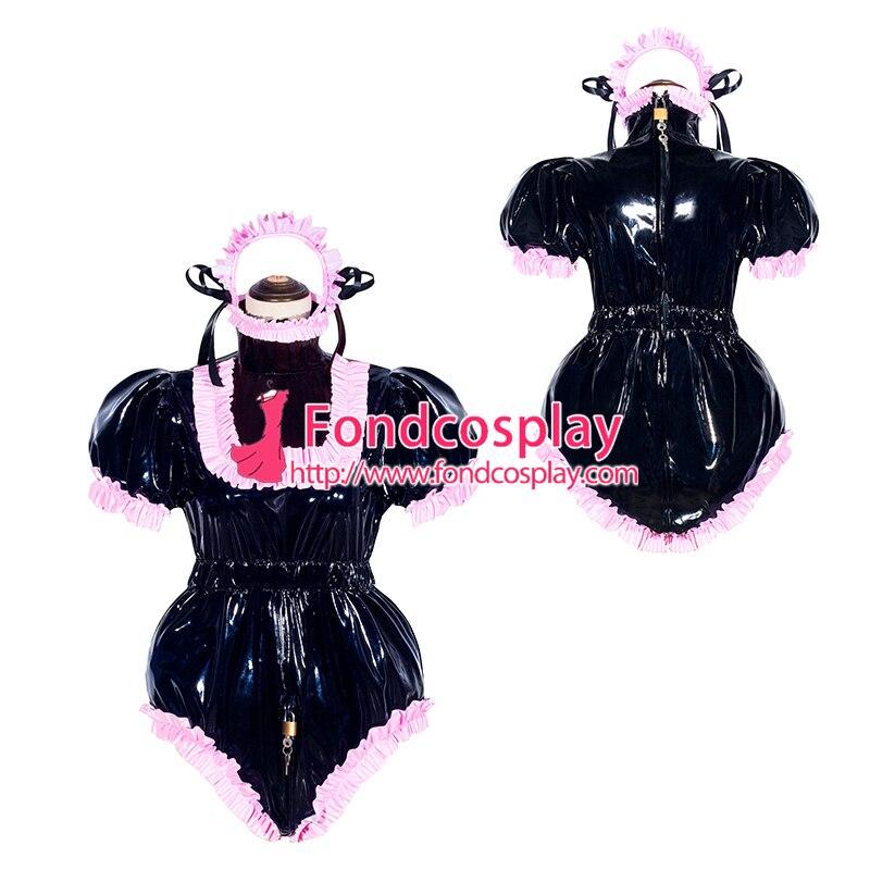 زي تنكري من البولي فينيل كلوريد ، بدلة رومبير سوداء قابلة للقفل ، زي موحد ، بدلة مصممة حسب المقاس [G4049]