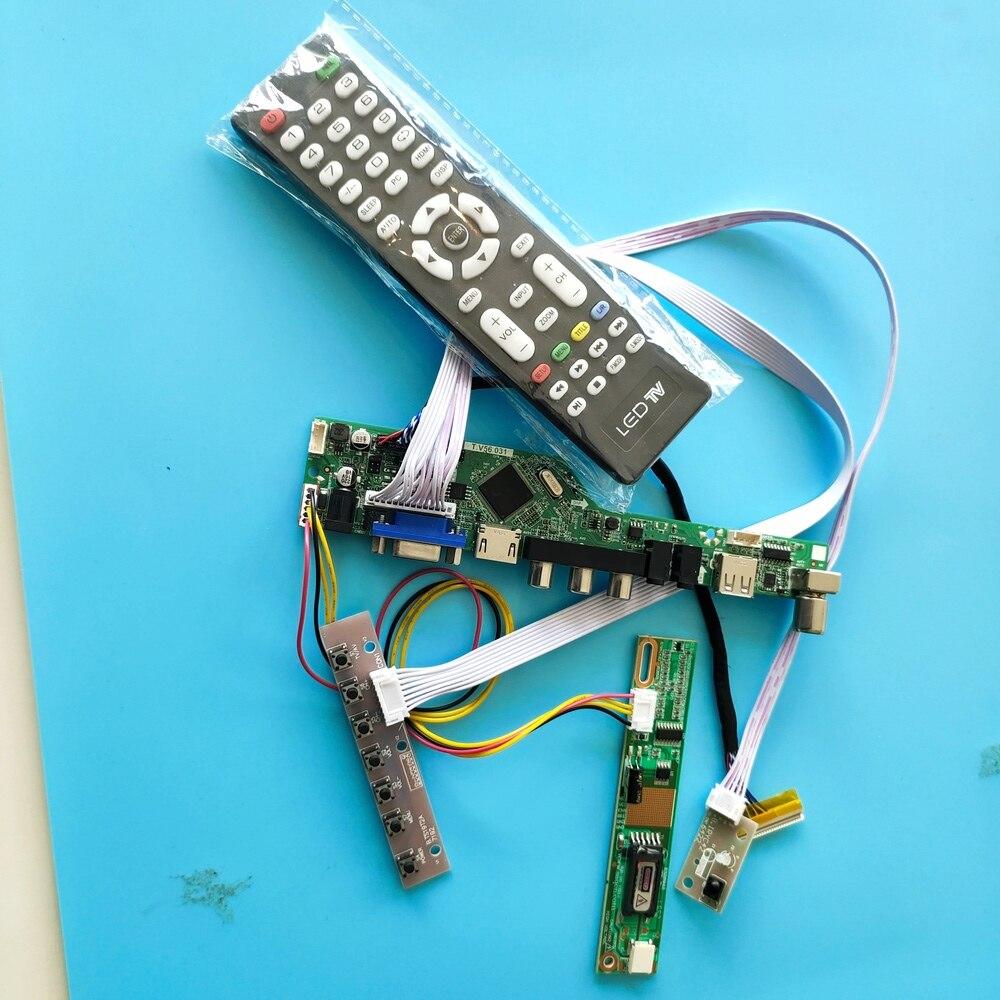 ل LP154W02-TLB2 الرقمية إشارة VGA وحدة تحكم USB مجلس AV 1 مصابيح 15.4