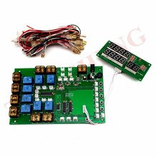 JY-2182-V2 8 kanaals Countdown timer board munt bill card operated tijd control board voor 1-8 apparaten