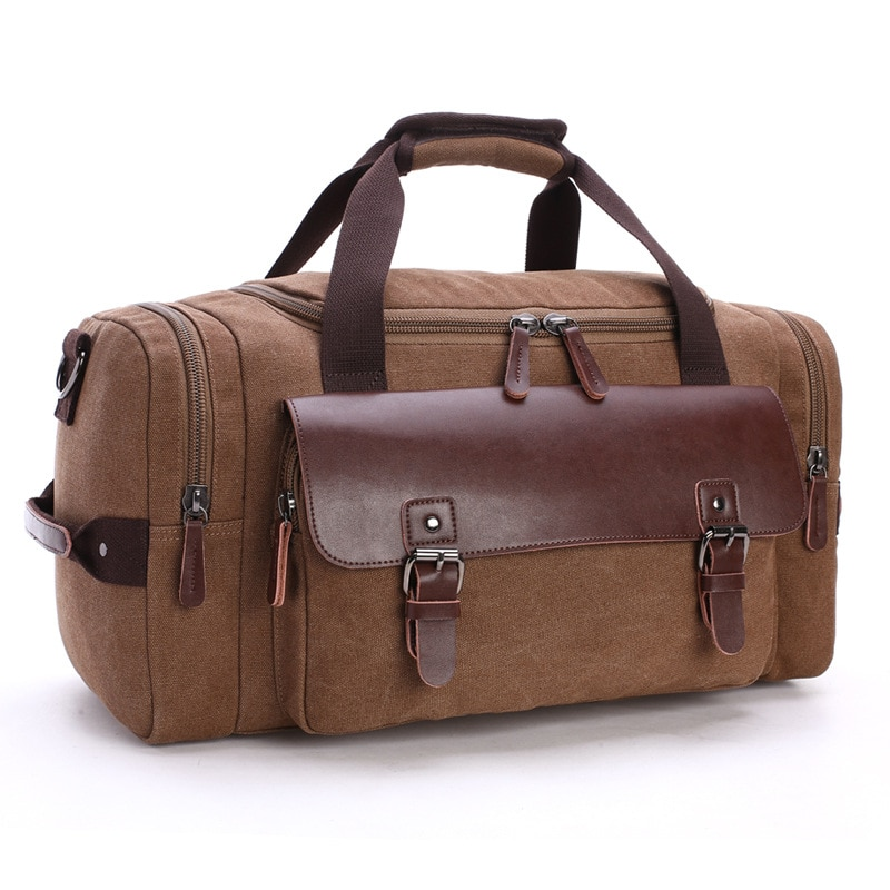 New Travel Bag Student Shoulder Messenger Carry Bag Large Capacity Travel Canvas Bag Luggage Bag