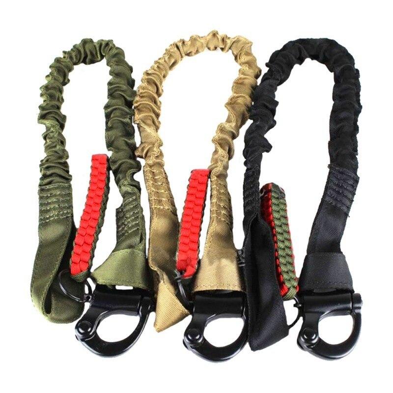 Wosport, accesorio de pistola de caza, cinturón táctico Universal, cuerda de seguridad elástica, edición Deluxe, estilo ajustable para escalada, cinturón negro