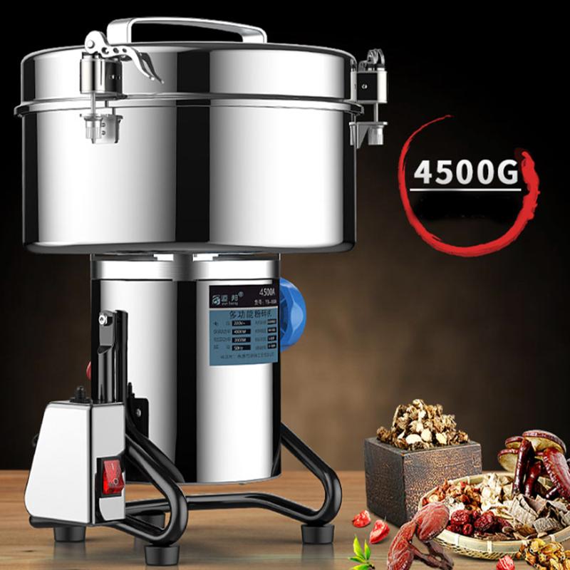 4500g الكهربائية مطحنة الطعام الحبوب التوابل حبوب البن Pulverizercom التجارية آلة مسحوق المنزلية