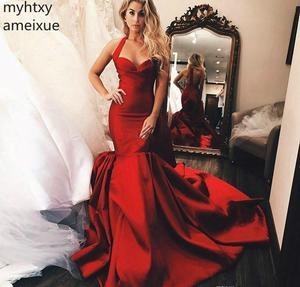 2020 г., Саудовская Аравия, темно-красные сексуальные недорогие вечерние платья с лямкой на шее, одежда без рукавов с юбкой-годе, официальное платье для вечеринки, выпускного вечера, женское платье