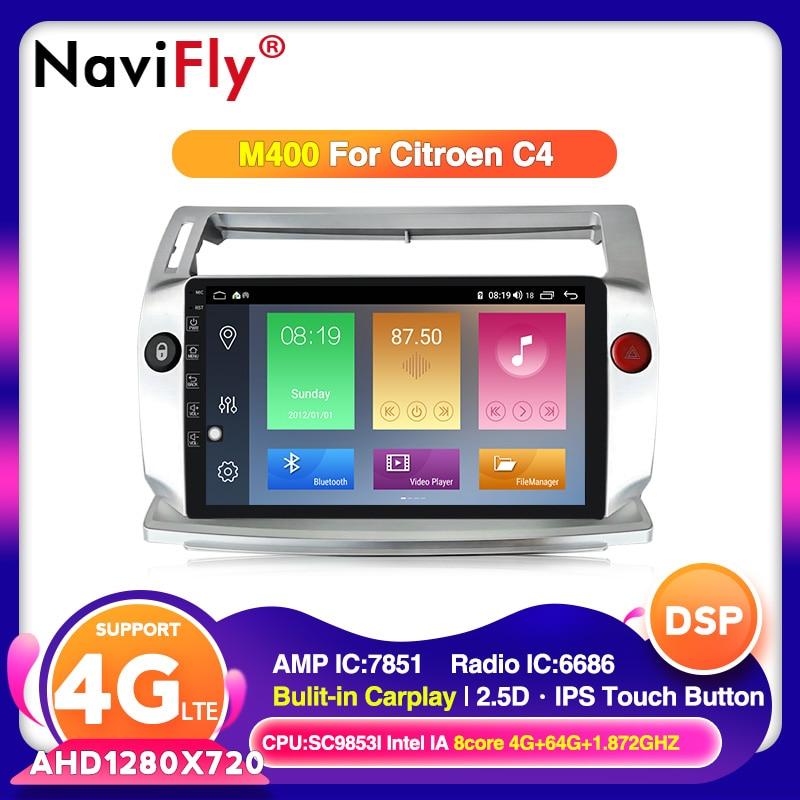 Navegador 2.5D IPS pantalla Android 10 Radio gps para coche Citroen C4 c-triomphe c-quatre 2004-2009 reproductor multimedia para coche No 2din DVD