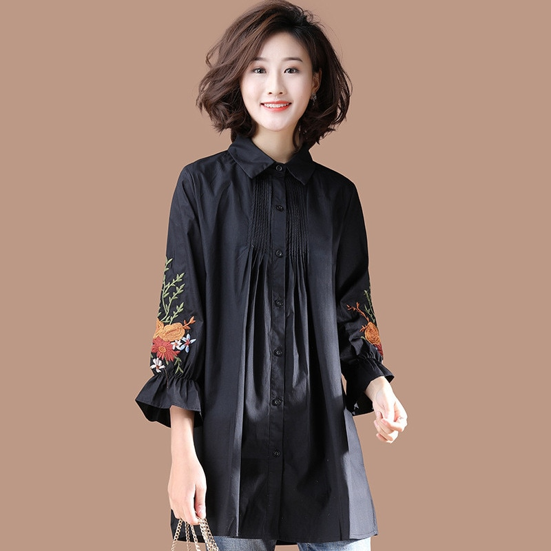 Loose Maternity Blouses Clothes-for-Fat-Woman 2020 New Spring Pregnant Women Nursing Blouse Breastfeeding Pregnancy Clothings enlarge