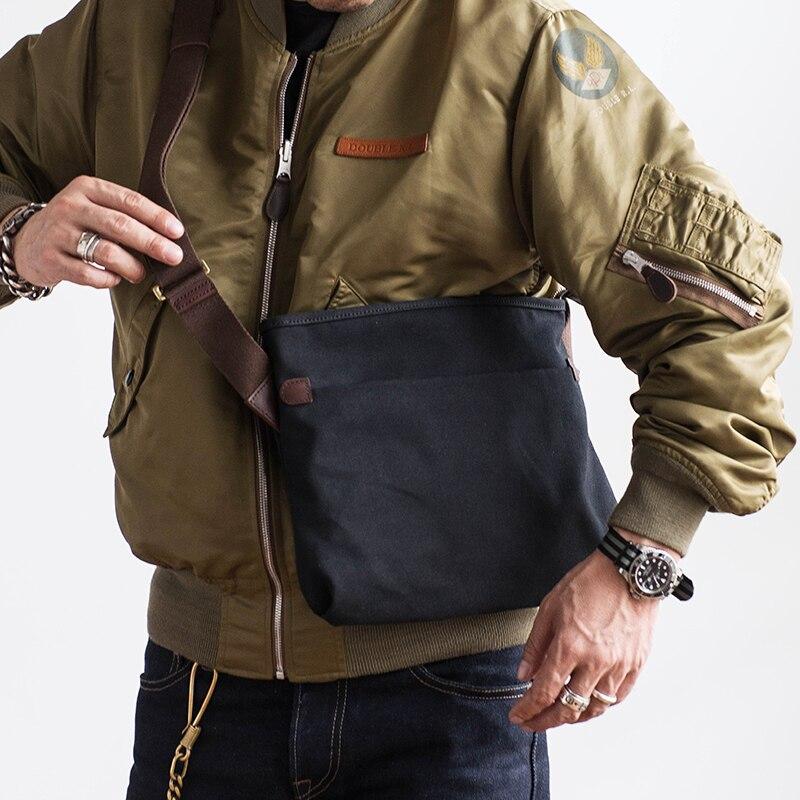 AETOO Vintage simple canvas bag men's cross body bag summer small packets shoulder Bag ipad bag