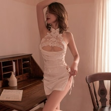 Sexy Underwear Women Hollow Out Lace Sexy Costume Sexy Outfit Lingerie Set  Exotic Woman Uniforms Qi