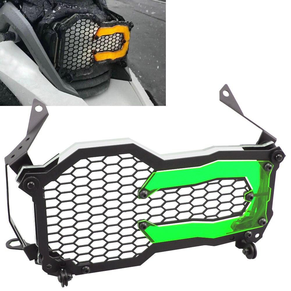 Motocicleta farol guarda protetor grille grill capa r 1200 1250 gs aventura adv lc verde remendo da lâmpada para bmw r1200gs r1250gs