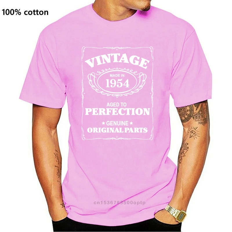 New 63Rd Birthday T Shirt Born In 1954 Mens Present Gift Age Aged To Perfection 2021 Hot Summer Casu
