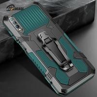 shockproof phone case for huawei y8p y6 y5 lite y9 y7 prime 2019 2018 belt clip armor cover for huawei y6 y7 y8p y9s y6s y5p y8s