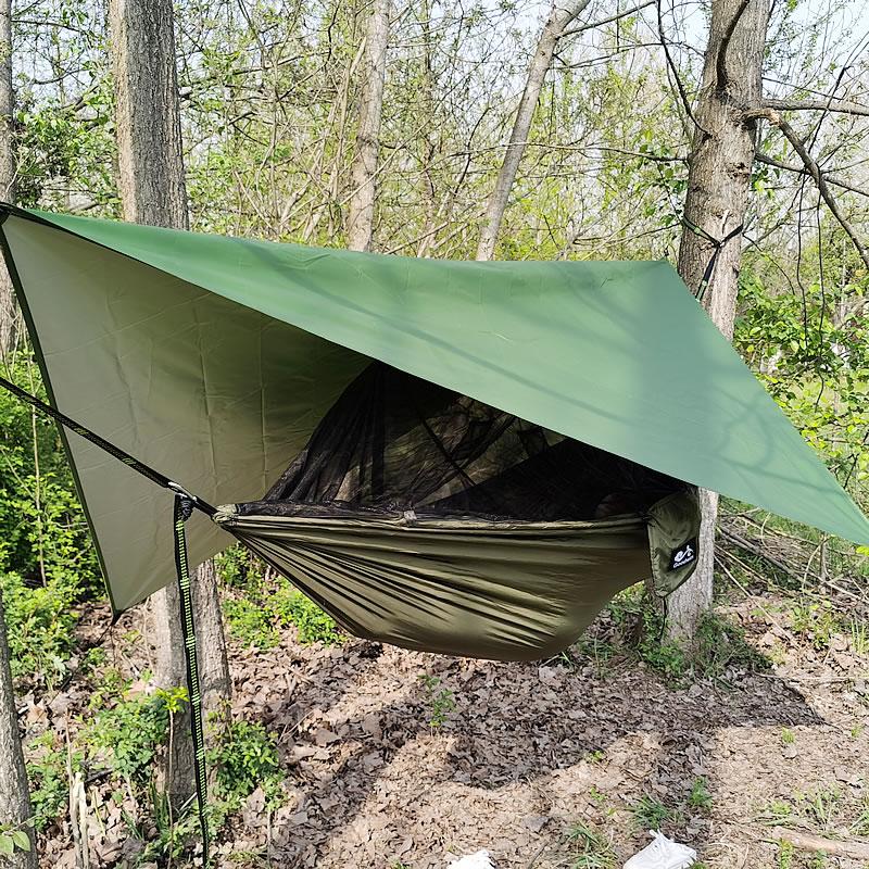 1-2 شخص المحمولة التخييم في الهواء الطلق أرجوحة مع ناموسية عالية القوة قماش مظلات سرير معلق الصيد النوم سوينغ