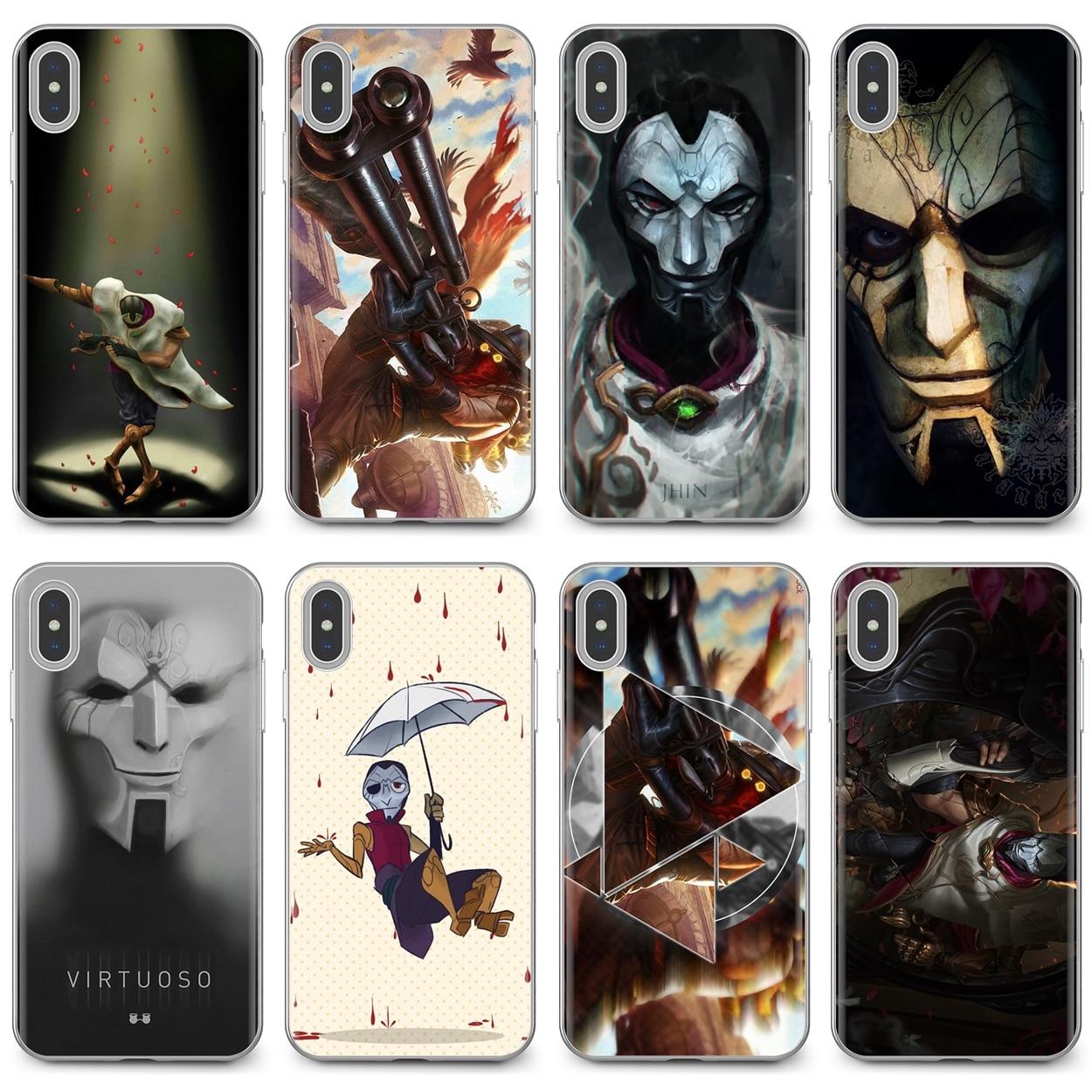 Для iPhone 11 Pro 4 4S 5 5S SE 5C 6 6S 7 8X10 XR XS Plus Max для iPod Touch мягкий чехол Jhin Singed LOL League of Legends Games