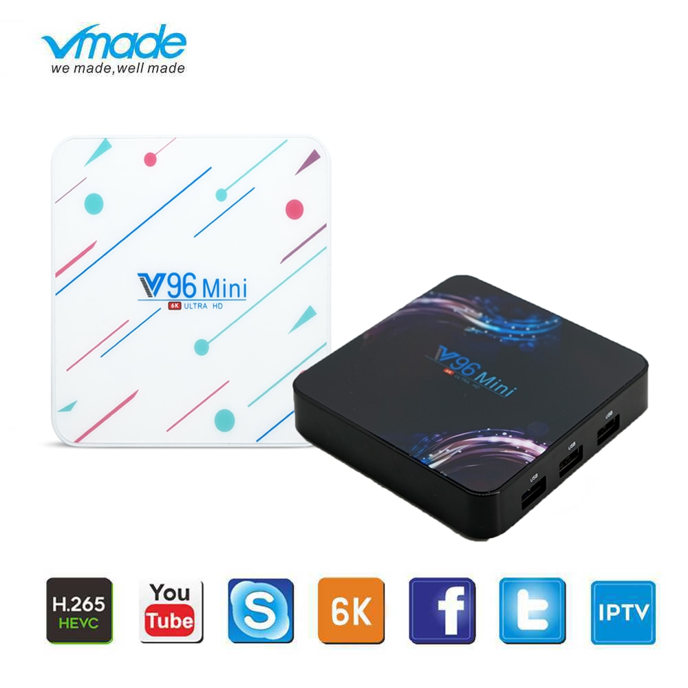 Mini TV Box Android 9,0 soporte YouTube cuenta de netflix 4G 64G WIFI Allwinner H6 Dispositivo de tv inteligente 6K smart Mini N96 reproductor de medios