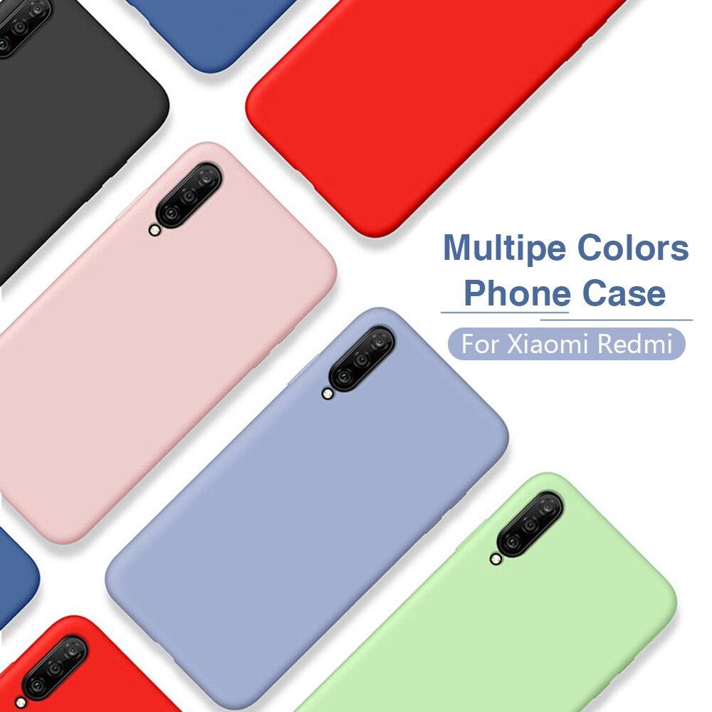 Para Xiaomi mi10 pro de silicona líquida de microfibra suave cubierta xiomi xaomi xiami redmi note 8 pro mi9 lite mi 10 9 9t pro micc9