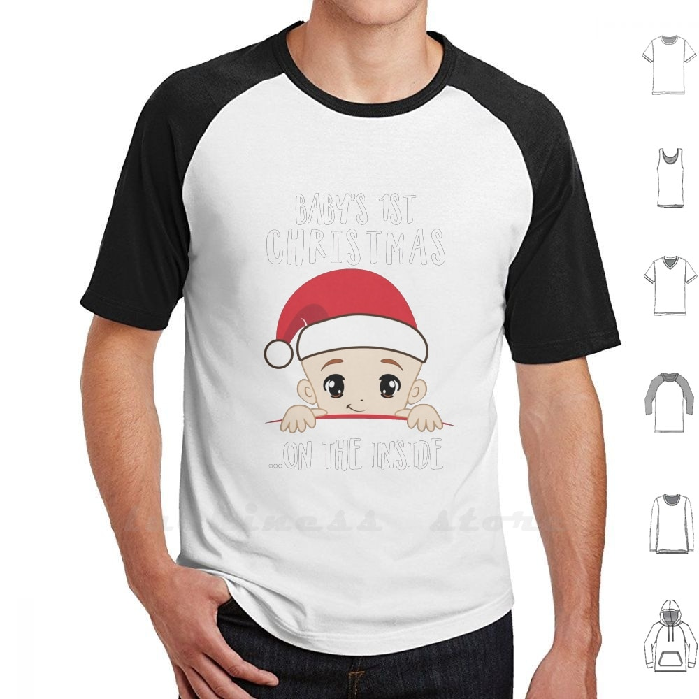 Camiseta BabyS 1St Christmas On The inside Mom To Be Christmas Gift, algodón, 6Xl, Navidad, maternidad, mujer embarazada
