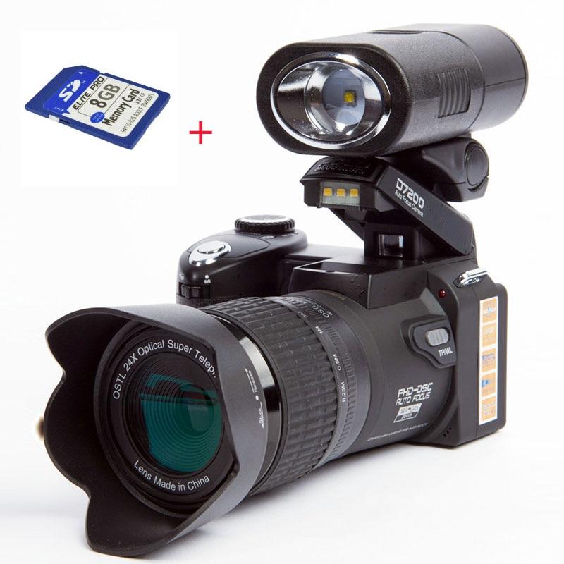 POLO D7200 fotocamera digitale 33MP messa a fuoco automatica fotocamera DSLR professionale teleobiettivo obiettivo grandangolare Appareil Photo Bag
