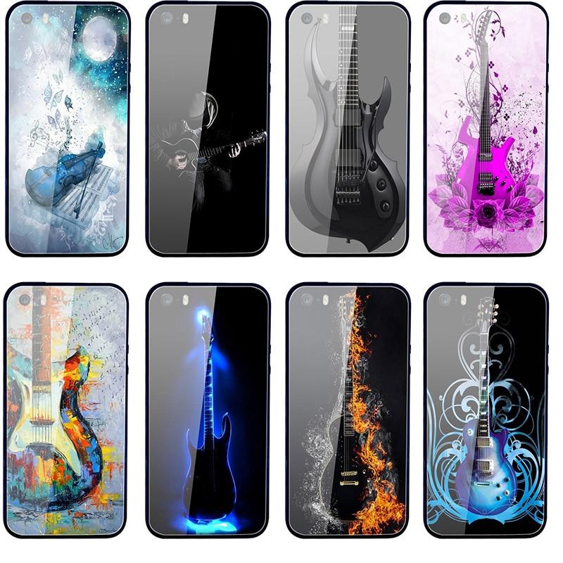 Fundas de vidrio templado para teléfono móvil, para iphone 7, 5, 5S,...