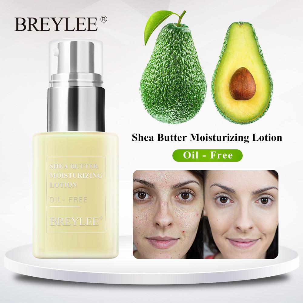 Día libre de aceite crema Facial de manteca de karité loción hidratante antiacné tratamiento de emulsión Facial BREYLEE