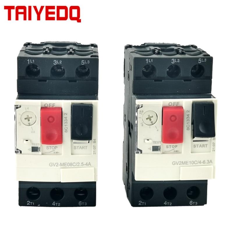 GV2-ME Motor Protection Circuit Breaker  3P Thermal Magnetic Type motor breaker MPCB  Circuit Breaker Push Button