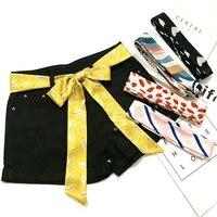 korean joker scarf for women small long imitation silk scarf bag hair ribbons tie laides scarvesbelt head bands infinity scarf