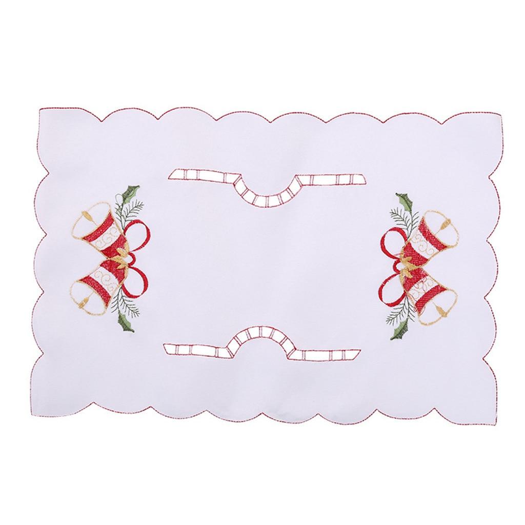 1 ud. Manteles individuales rectangulares con forma de tenedor, decoración de exquisitas manteles individuales de Navidad para comedor de cocina, accesorios para mesa de comedor