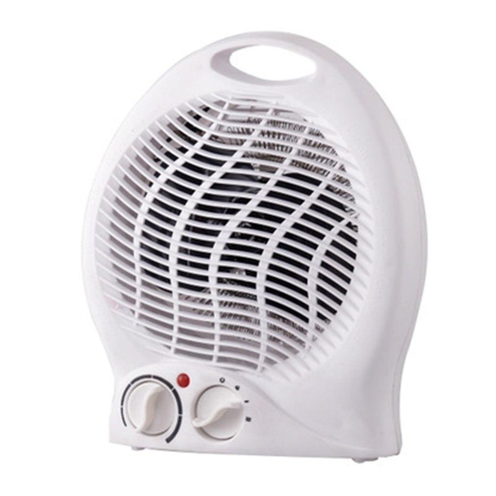 Disfrute de una calidez acogedora mientras lee el calentador de escritorio de oficina en casa calentador de dos engranajes calefacción eléctrica pequeño aire acondicionado blanco