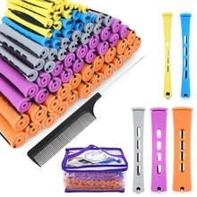 Perm Rods and 100 Pieces 5 Sizes Hair Rollers with Hair Cold Wave Rods Hair Curler for Women Long Sh