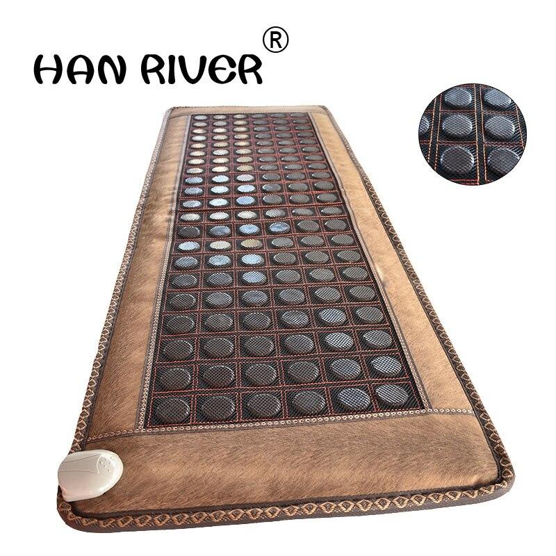 Nuevos productos de terapia de calor de jade, cojín de asiento de turmalina con calefacción, masaje para dormir con cubierta ocular gratis 50X150CM