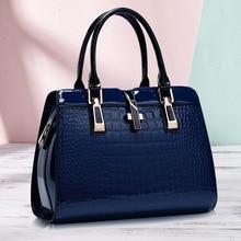 Famous Brands Handbags 2020 Luxury Elegant Female Big Bags Crocodile Women's PU Leather Handbag Cowhide Messenger Bag F328