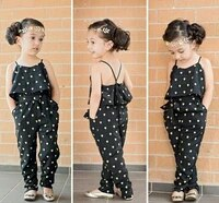 pretty fashion toddler kids girls sleeveless pants backless jumpsuit baby girls overralls outfit clothes 2 7y hot sale