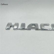 Tek Parça Araba Çıkartmaları Logosu Hiace Krom Arka Bagaj Kapağı Amblem Çıkartması Için Toyota Banliyö Van