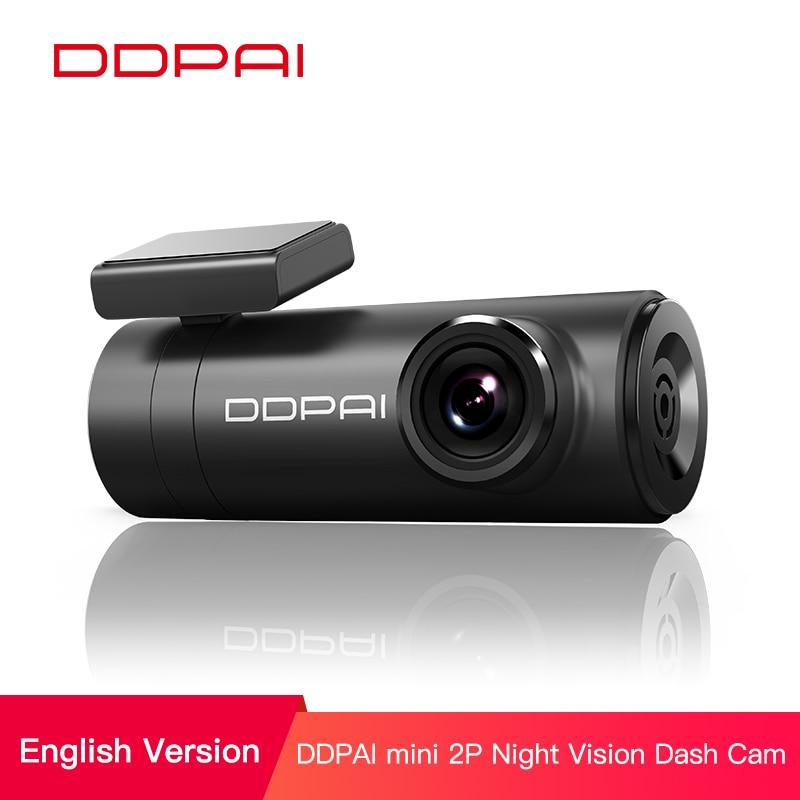 DDPai Mini2s Car DVR sin distorsión 2K Ultra HD 1440P cámara para salpicadero de coche amplio rango dinámico lente gran angular 140 ° g-sensor WiFi