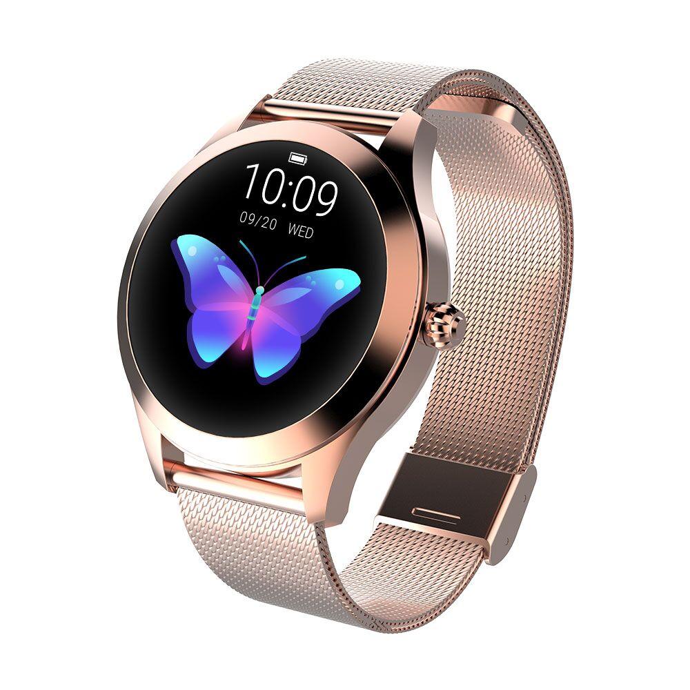 Reloj inteligente para dama/mujer, reloj inteligente, pulsera de Fitness, monitor de ritmo cardíaco, banda inteligente Bluetooth para Android IOS PK B57 inteligente ver