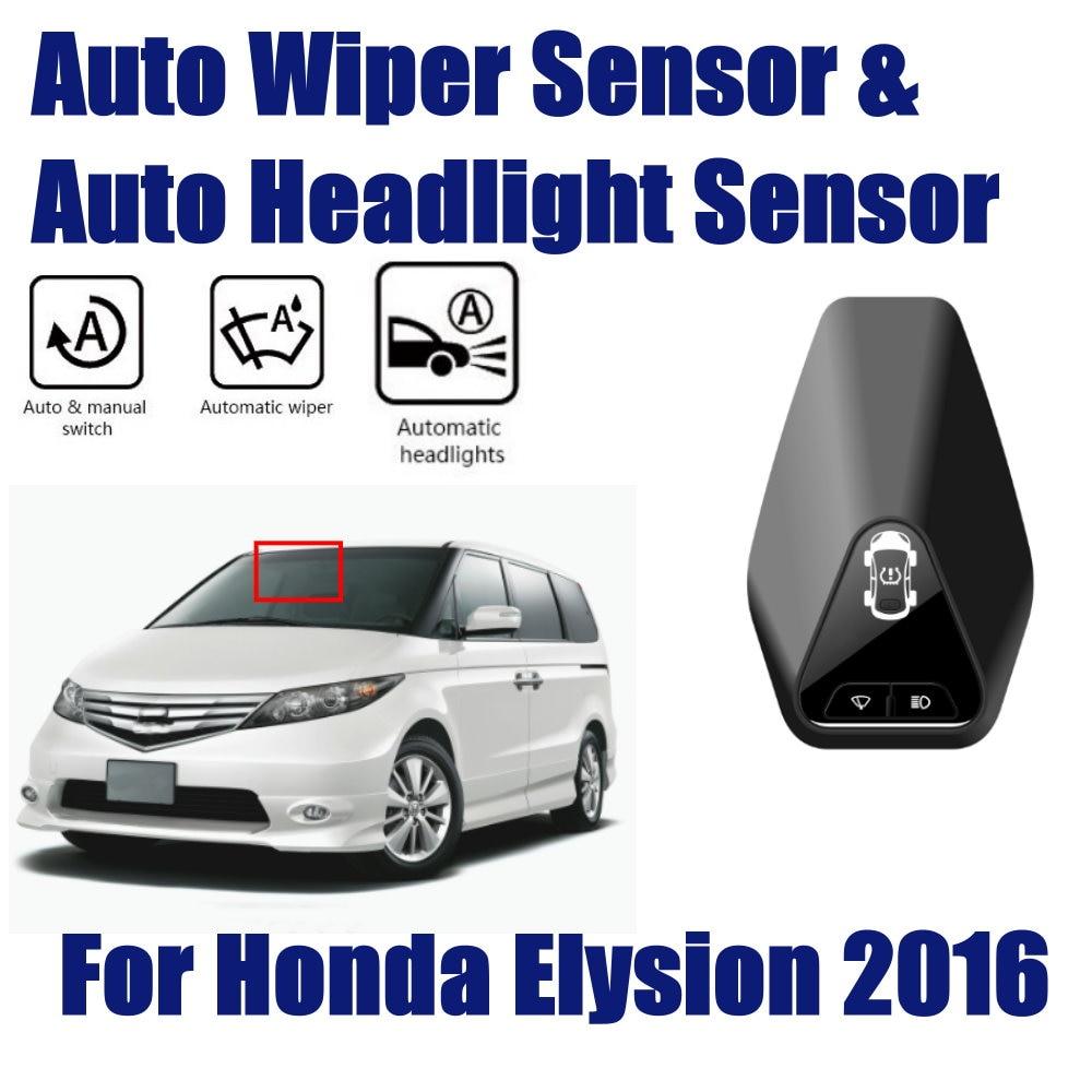 Sistema de Asistente de conducción de coche inteligente para Honda Elysion 2016-2019 Sensor automático de limpiaparabrisas de lluvia y sensores de faros