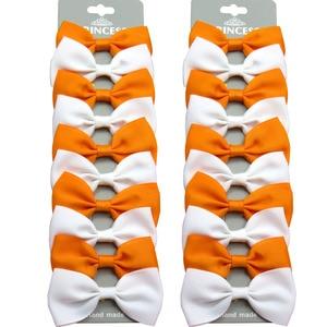 20PCS/Lot Cute Orange White With Clip Grosgrain Ribbon Bows Hairpins 2020 Scrunchie Korean CLIP Hair Accessories For Baby Girl
