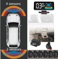 original 6 sensor blind car colorful lcd monitor ops detector system obd parktronic front rear parking sensors spot detection