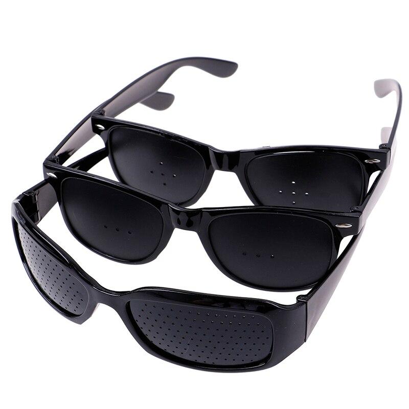 3 estilos unisex visão cuidados pino buraco óculos pinhole óculos olho exercício visão melhorar plástico cura natural barato