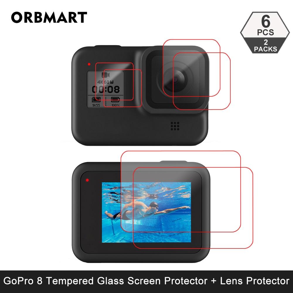 Protector de pantalla de vidrio templado para GoPro Hero 8, película protectora...